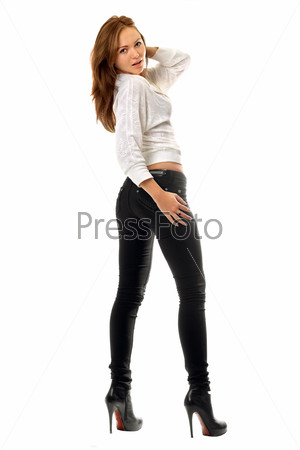 Фото красивых девушки в черных обтягивающих джинсах фото 730-811